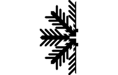 snowflake d Free Dxf for CNC