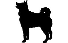 elkhound dog Free Dxf for CNC
