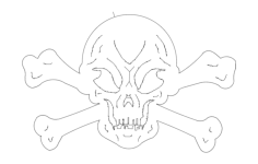 skull and crossbones Free Dxf for CNC