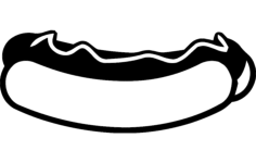 hot dog Free Dxf for CNC