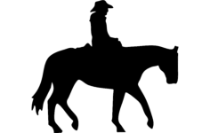 Cowboy On A Horse DXF File Format