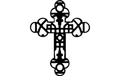 decorative christian cross Free Eia for CNC