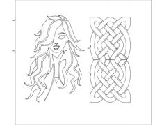 girl design Free Eia for CNC
