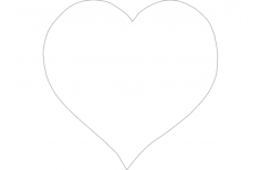 heart outline vector Free Dxf for CNC