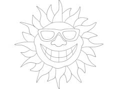 Smile Sun dxf File Format