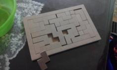 45 parça ahşap puzzle Free Dxf for CNC