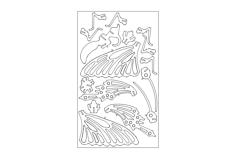butterfly Free Dxf for CNC