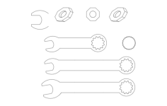 tools Free Dxf for CNC