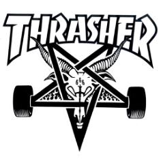 thrasher logo Free Dxf for CNC