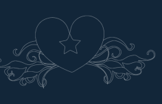 heart star Free Dxf for CNC
