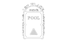 pool trophy Free Dxf for CNC