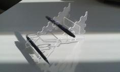 penholder 3mm plexi Free Dxf for CNC