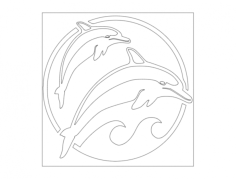 dolphins Free Dxf for CNC