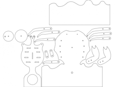 crab all parts Free Dxf for CNC