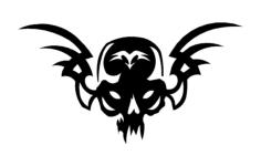skull 21 Free Dxf for CNC