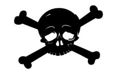 skull cross bones Free Dxf for CNC