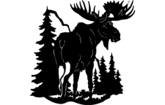 moose 1 Free Dxf for CNC