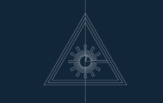 laser warning symbol Free Dxf for CNC