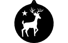 deer ornament Free Dxf for CNC