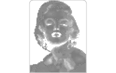 marilyn monroe Free Dxf for CNC