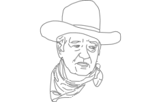 john wayne 2 Free Dxf for CNC