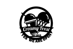 creamy frost Free Dxf for CNC
