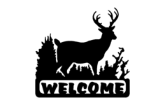 deer welcome Free Dxf for CNC
