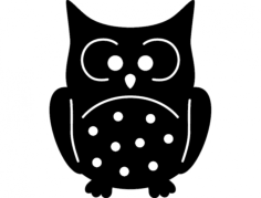 buho (owl) Free Dxf for CNC