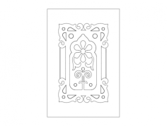 door design flowers Free Dxf for CNC
