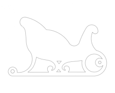 sleigh Free Dxf for CNC