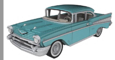 chevrolet bel air 1957 – 3 mm Free Dxf for CNC