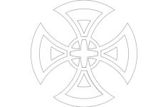cruz modificada Free Dxf for CNC