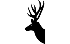 deer head silhouette Free Dxf for CNC