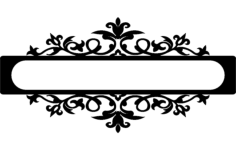 flower scroll Free Dxf for CNC