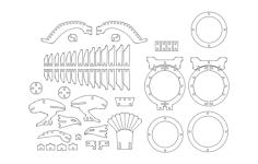 maket kartal Free Dxf for CNC