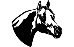horse clip Free Dxf for CNC