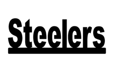 steelers the word Free Dxf for CNC