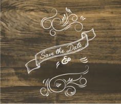 save the date Free Dxf for CNC