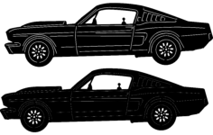 classic car 16 Free Dxf for CNC
