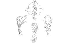 design flowers Free Dxf for CNC