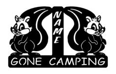 squirrel gone camping Free Dxf for CNC