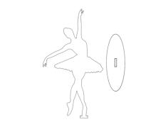 ballet dancer Free Dxf for CNC