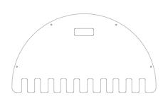 bat rack Free Dxf for CNC