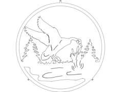 ganso (goose) Free Dxf for CNC