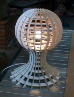 lamp with globe detail Free Dxf for CNC