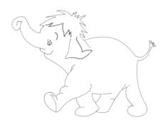 elephant Free Dxf for CNC
