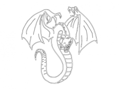 dragon 2 Free Dxf for CNC