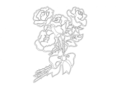 flowers 1 Free Dxf for CNC