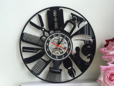 clock orologi vinile Free Dxf for CNC