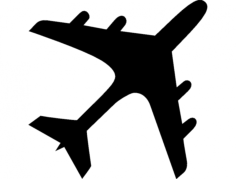 airplane silhouette Free Dxf for CNC